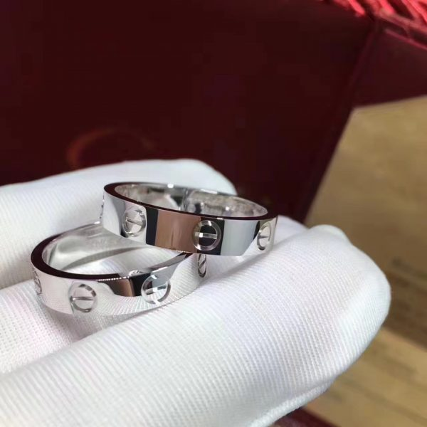 Cartier Love wedding band Ring. Width: 3.6mm.