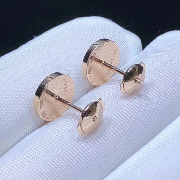 BVLGARI BVLGARI 18 kt rose gold single stud earring with mother-of-pearl