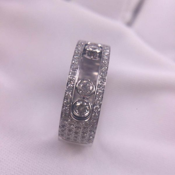 Pure 18K White Gold Messika Move Noa GM Pavé Diamonds Ring